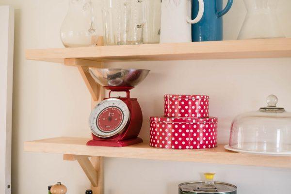 Maple utility shelves