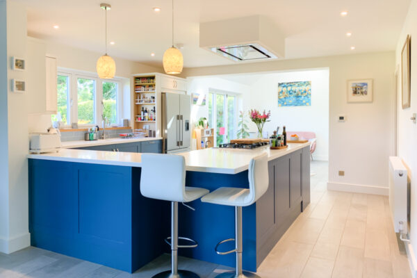 Modern Blue and White Shaker Kitchen
